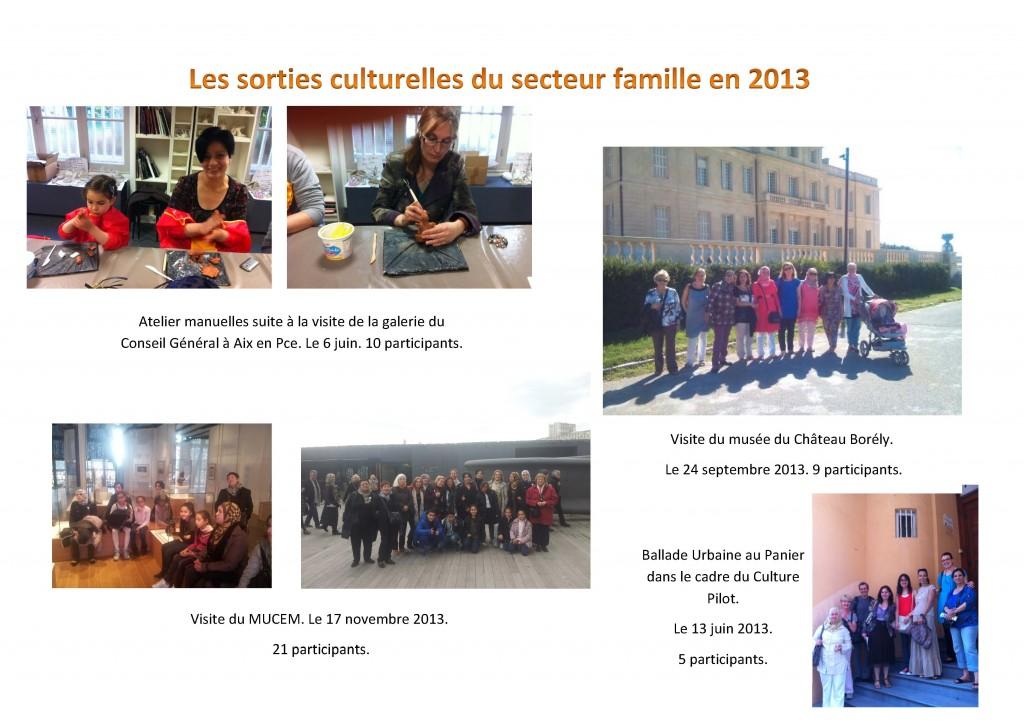 Sorties culturelles 2013