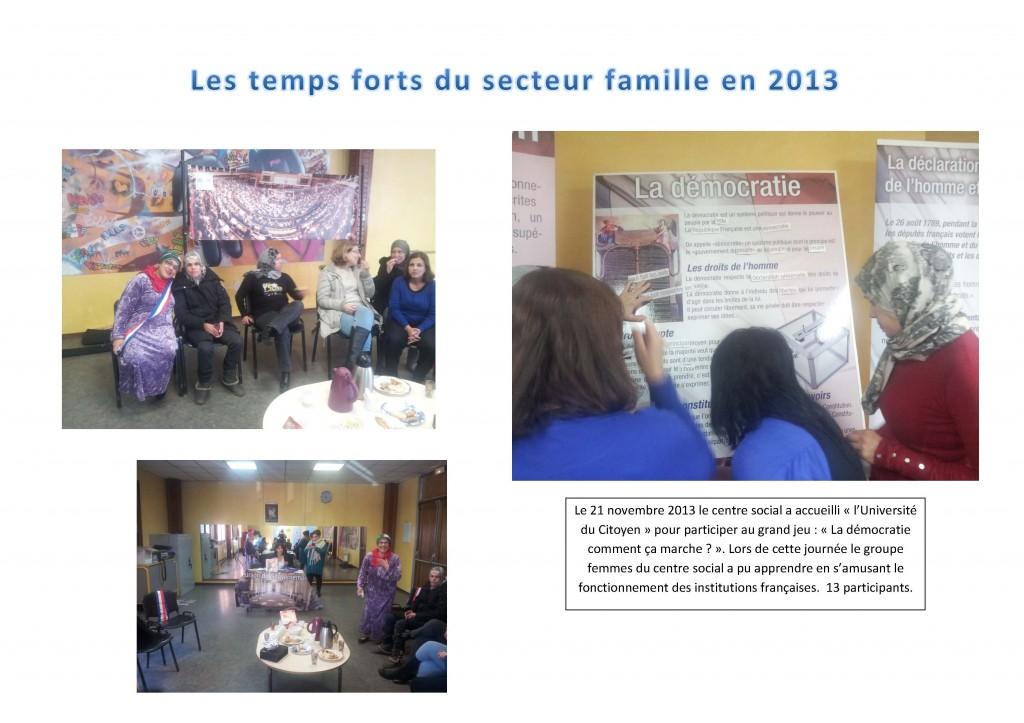 Temps forts du secteur famille 2013