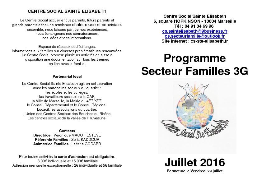 thumbnail of Programme Secteur familles séniors Juillet 2016